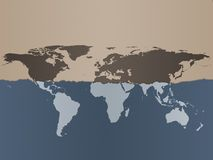 Weltkarten-Hintergrund Stockbild