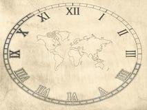 Weltkarten-Hintergrund Stockbilder