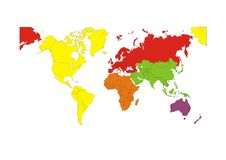 Weltkarten-Kontinent Stockbild