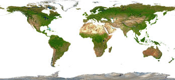 Weltkarten-schattierte Entlastung Lizenzfreie Stockbilder