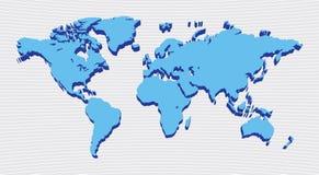 Weltkartenauslegung Stockbilder