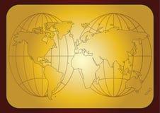 Weltkartenauszug Lizenzfreies Stockbild