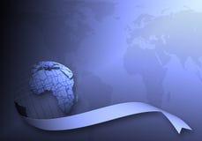 Weltkartenhintergrund Lizenzfreie Stockfotografie