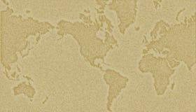Weltkartenhintergrund Lizenzfreies Stockbild