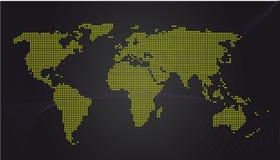 Weltkartenkommunikation Stockfotografie