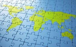 Weltkartenpuzzlespiel Lizenzfreies Stockbild