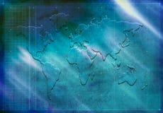 Weltkartenschattenbild stock abbildung