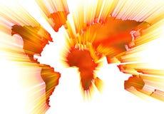 Weltkartenschattenbild Lizenzfreie Stockbilder