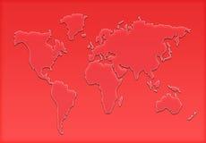 Weltkartenschattenbild Lizenzfreie Stockfotos