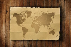 Weltkartenweinlese Stockfotos