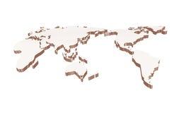 Weltkartenweinlese Lizenzfreie Stockfotografie