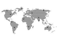 Weltkartepunktansicht vektor abbildung