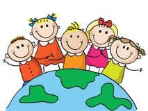 Weltkinder Stockbild