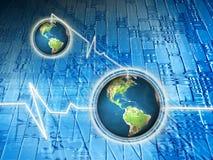 Weltkommunikation Stockfoto
