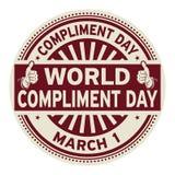 Weltkompliment-Tagesstempel Lizenzfreie Stockfotos
