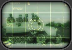 Weltkriegärakampf auf Fernsehapparat Lizenzfreie Stockbilder
