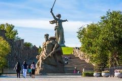 Weltkrieg-Denkmal in Wolgagrad Russland Lizenzfreies Stockbild