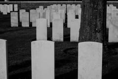 1. Weltkrieg des Militärfriedhofs Flandern Stockbild