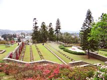 Weltkrieg-Kirchhof, Kohima, Nagaland, Nordost-Indien stockfoto