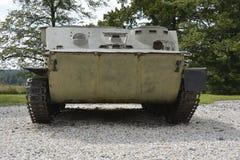 Weltkriegmuseumswaffen und -behälter Stockfoto