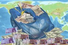 Weltkrise und Betrachtung lizenzfreies stockfoto