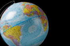 Weltkugel auf Schwarzem Lizenzfreies Stockbild