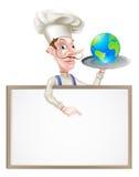 Weltkugel-Chef Sign Stockfotografie