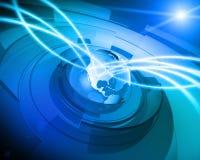 Weltkugel-Digitalnetz-Anschluss-Hintergrund Stockfotos