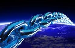 Weltkugel und Chain 2 Lizenzfreies Stockfoto