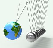 Weltkugel zeigt globale weltweite Erhaltung Stockbild
