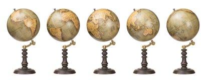 Weltkugeln Stockfoto