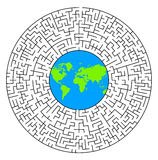 Weltlabyrinth Stockfoto