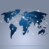 Weltluftfahrt-Karte vektor abbildung