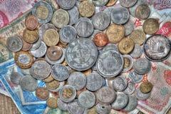 Weltmünze Stockbild