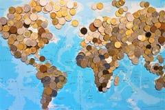 Weltmünzenzusammenstellung lizenzfreies stockfoto