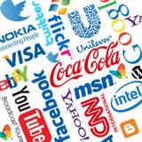 Weltmarken-Firmenzeichen Stockfotografie