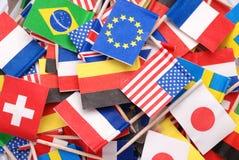 Weltmarkierungsfahnen lizenzfreie stockfotos