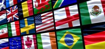 Weltmarkierungsfahnen Lizenzfreies Stockbild