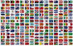 Weltmarkierungsfahnen eingestellt lizenzfreie abbildung