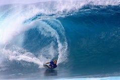 Weltmeister Bodyboarder, Jeff Hubbard lizenzfreie stockbilder
