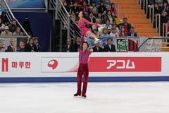 Weltmeisterschaft auf Abbildung Eislauf 2011 Stockbilder