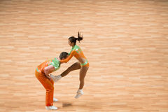 Weltmeisterschaft auf akrobatischem Rock 'n' Roll und der Welt beherrscht Boogie-Woogie Lizenzfreies Stockbild