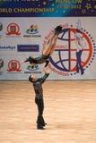 Weltmeisterschaft auf akrobatischem Rock 'n' Roll und der Welt beherrscht Boogie-Woogie Lizenzfreie Stockfotografie