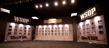 Weltmeisterschaft des Hall of Fame des Schürhaken-(WSOP) in Rio Stockbild