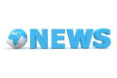 Weltnachrichten Lizenzfreies Stockfoto