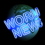 Weltnachrichten Lizenzfreie Stockbilder