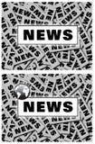 Weltnachrichten einbrennendes sgn Stockfotos