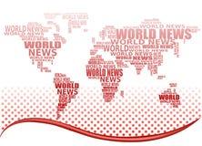 Weltnachrichtenkonzept. Abstrakte Weltkarte Lizenzfreie Stockfotos