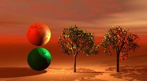 Weltnationalstandard-Bäume stock abbildung