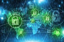 Weltnetz-Sicherheits-Konzept Lizenzfreie Stockfotografie